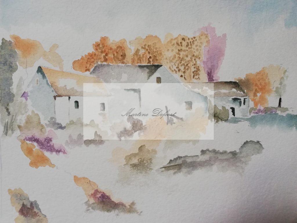Huisje in dorp
