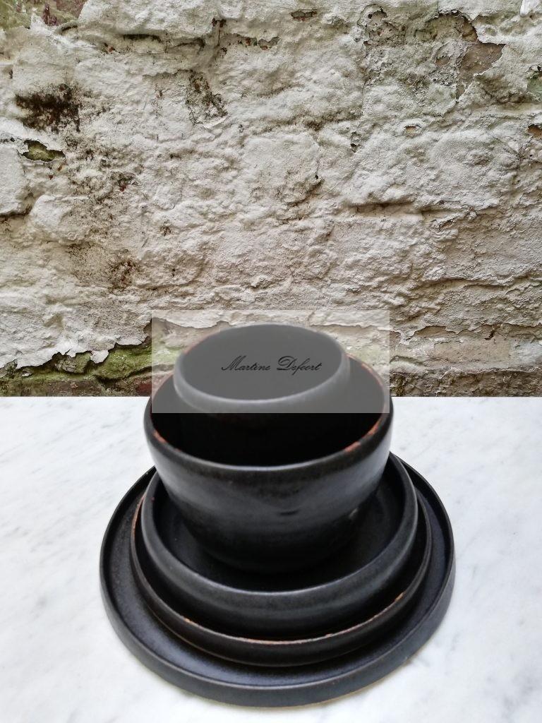 Zwart servies